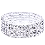 Armband Damen Armbänder DAY.LIN Elastische Stretchy 5 Row Strass Kristall Armband Armreif Braut Frauen