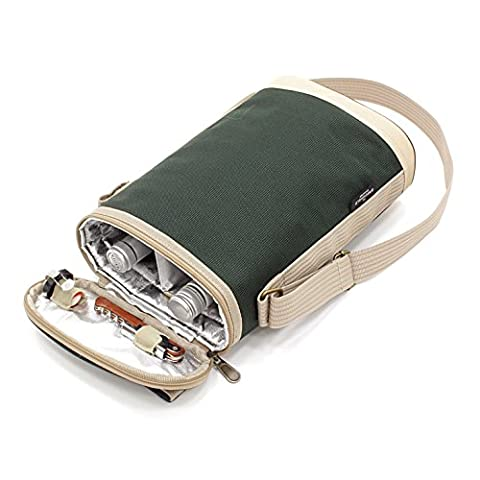 Greenfield Collection Duo Forest Green Wine Cooler Bag