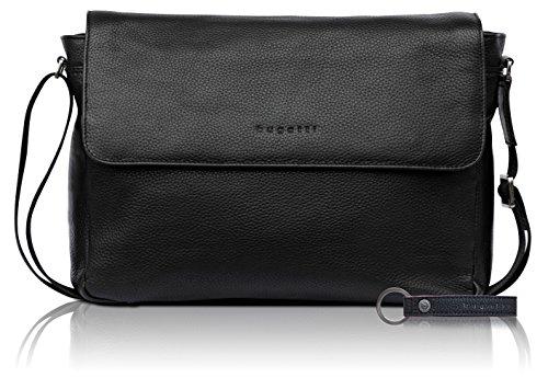 ger-Tasche aus echtem Leder für Herren - edler Messenger in schwarz ()