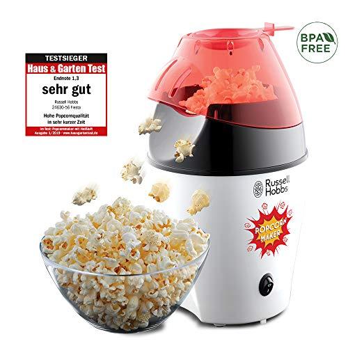 Russell Hobbs Popcornmaschine, Heißluft Popcorn Maker für Popcornmais, ohne Fett & Öl, BPA-frei, inkl. Messlöffel, 1200W, Popcornautomat Fiesta 24630-56