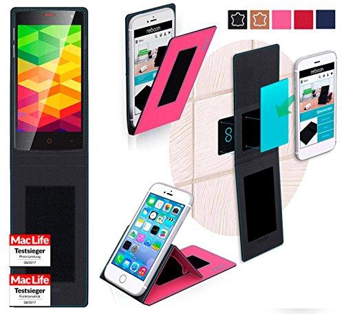 reboon Hülle für Ulefone BE X Tasche Cover Case Bumper | Pink | Testsieger
