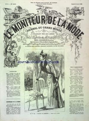 MONITEUR DE LA MODE (LE) [No 17] du 23/04/1892