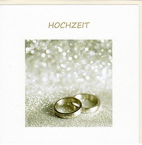 Fine Art Hochzeitskarte Ringe auf Silber