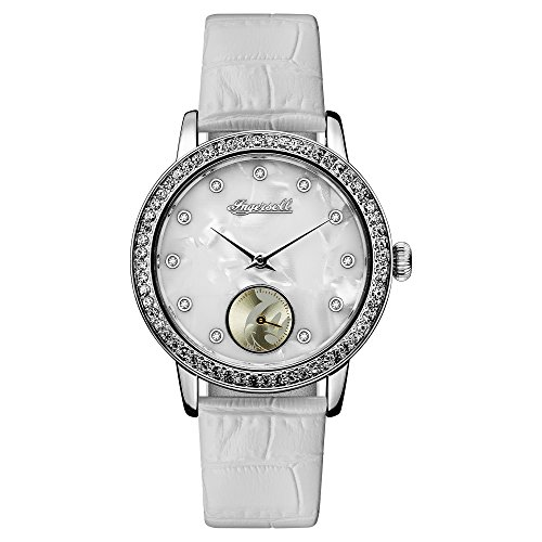 Ingersoll Disney Women's Union Quartz Watch with Mother of Pearl Dial and White Leather Strap ID00701
