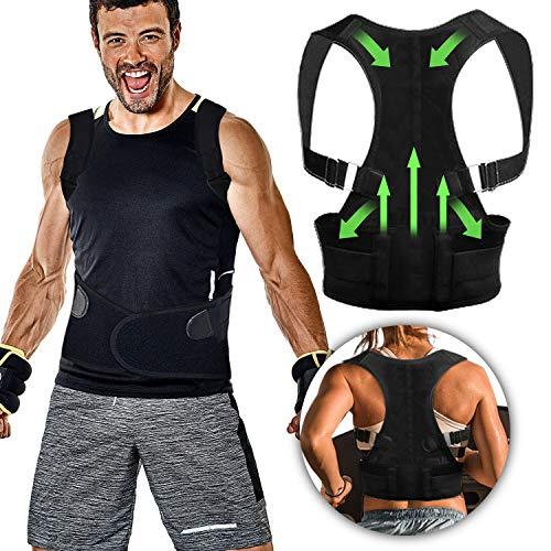 Fixget Haltungskorrektur Geradehalter, Rücken Schulter Verstellbar Atmungsaktiv Rückenbandage Haltu (4) - Hd-rechner