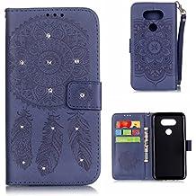 LG G5 Coque [avec Gratuit Protection D'écran en Verre Trempé], BoxTii® Etui Coque Housse Premium Case Cover pour LG G5 (#7 Bleu)