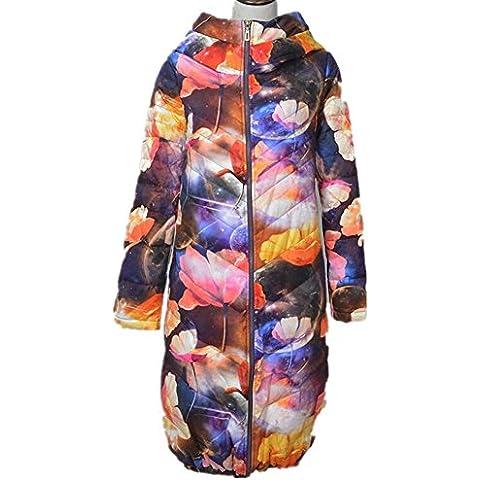 ZZHH por la chaqueta Las mujeres acolchado capas sueltas de capa con capucha chaqueta . m