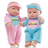 Babypuppe wie echtes Baby - Sehr niedlich aus weichem Material - Nicht zu groß oder zu klein (rosa)