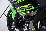 R&G RACING Protectores de Choque Aero sin Taladro en Negro - Kawasaki Ninja 250/400 '18- [CP0444BL]