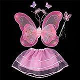 ESHOO Niñas de mariposa ala varita diadema Tutu Falda fiesta cosplay