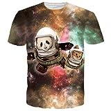 BFUSTYLE Unisex Netter Astronaut Panda Kurzarm T-Shirts T-Shirts