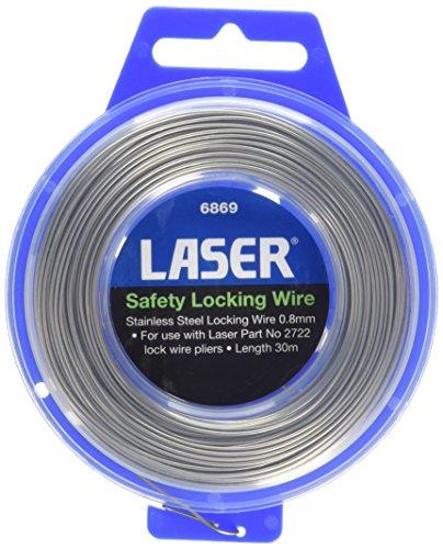 Edelstahl-draht-sperre (Laser 6869Sicherheit sperren Draht, 0,8mm x 30m)