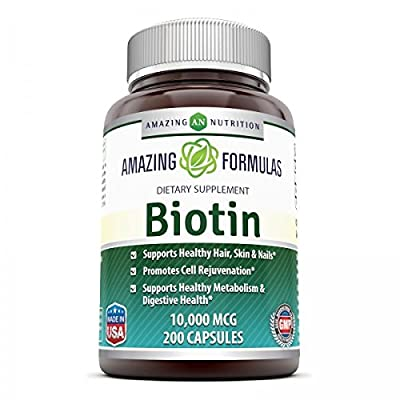 Amazing Nutrition Biotin 10,000 mcg 200 Capsules by Amazing Nutrition