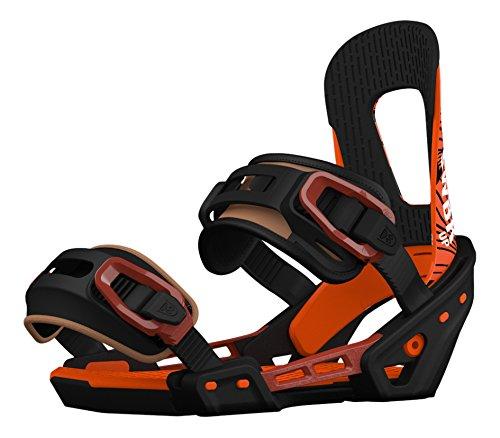 Switchback Up Snowboard-Bindungen, Schwarz/Orange, Größe S/M -