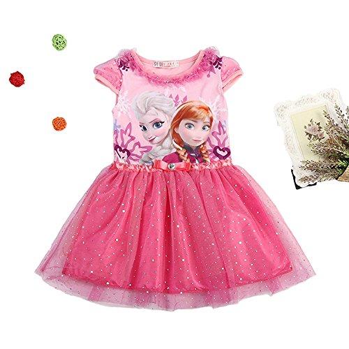 MiXiaoJie Mädchen Kleid Prinzessin Kleid Partykleid BlumenMädchen Pailletten glänzend Kleider Kostüme (4 Jahren/Herstellergröße 5T, (Der Tanz Schule Kostüme)