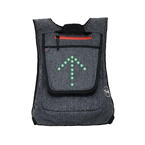 MoonRide–Kleiner Rucksack Fahrrad LED Blinklicht–LED-Orientierungslicht Connect