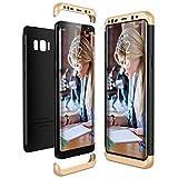 CE-Link für Samsung Galaxy S8 Plus / S8+ Hülle, Hardcase 3 in 1 Handyhülle Ultra Dünn 360 Grad Full Body Schutz Schutzhülle Bumper - Gold + Schwarz