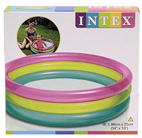 Intex Gonflable Arc-en-ciel enfants bébé Piscine Pataugeoire 34inch x 25.4cm