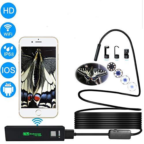Preisvergleich Produktbild XIAOXIN Wireless Endoscope 1200P HD 1m WiFi Borescope Inspektionskamera 5 Megapixel Snake Camera für Android iOS Smartphone,  iPhone,  Tablet iPad