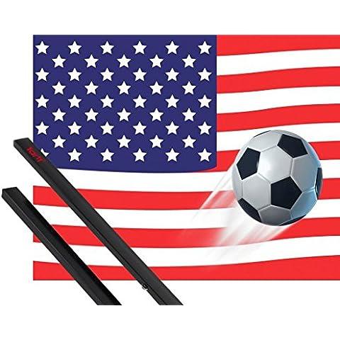 Poster + Sospensione : Calcio Poster Stampa (50x40 cm) Bandiera Degli Stati Uniti d