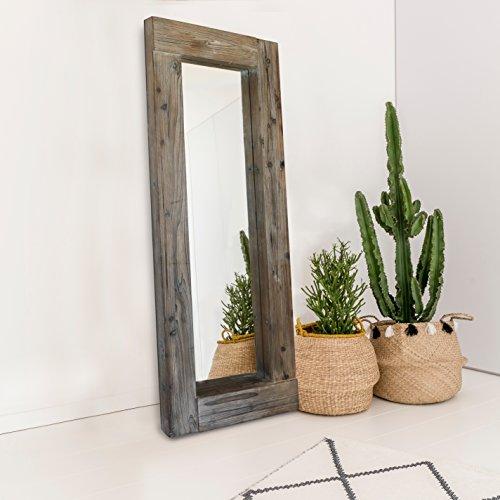 Barnyard Designs Decorativo Integral Largo Rectangular de Suelo o Colgando del Espejo de Pared, rústico...