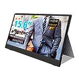 Externer Portable Monitor, 15,6 Zoll Gaming Monitor Ultraflacher 1920x1080 16: 9-Bildschirm Typ C/Mini HD für Arbeit Unterhaltung und Reisen