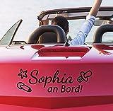 tjapalo® pkm241 Babyaufkleber name auto Autoaufkleber mit Name Baby an Bord Namensaufkleber Mädchen Jungen (breite31cm)