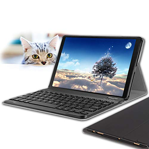 Wineecy Galaxy Tab A 10.1 2019 Teclado Funda SM-T510/T515(QWERTY), Funda de...
