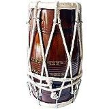 Shreyas Handmade Wooden Dholak Indian Folk Musical Instrument Tied Thru Rope