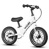 GHL Kind Fahrrad 2-6 Jahre alt Roller Zwei Runden Kein Pedal Auto ausbalancieren Mit Hinterradbremse,White