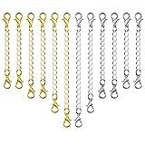 40ad94748606 Paxcoo 12 piezas extensor de cadena joyería collar cierres de langosta y  cierres para collar pulsera