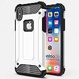 gahatoo iPhone X [10] Outdoor Case Hülle Ultra Slim [Hybrid TPU Silikon Hardcase] Handyhülle in Weiß [Tactical Military Defender]