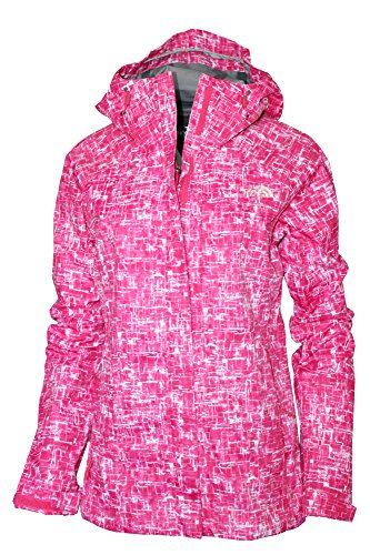 The North Face Women's Novelty Venture Full Zip Hooded Waterproof Rain Jacket (Rose Red, XL) North Face Women Venture Jacket