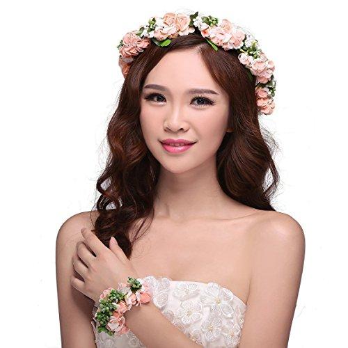 tininna-elegante-nuziale-matrimonio-corona-fiori-fascia-ghirlanda-e-fiori-bracciale-rosa