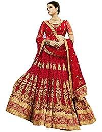 Red Latest Women Bridal Dress Indian Ethnic Party Wear Wedding Ceremony Lehenga Choli Dupatta 8726