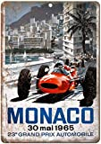 Monaco Grand Prix Automobile Blechschilder Vintage Metall