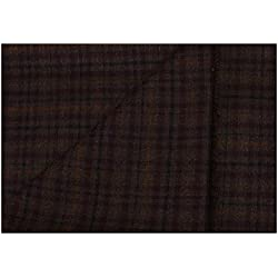 Kundan Sulz Gwalior Un Stitch Blazer Fabric For Men and Women's ( 2.00 Meters ) (Brown/Maroon)