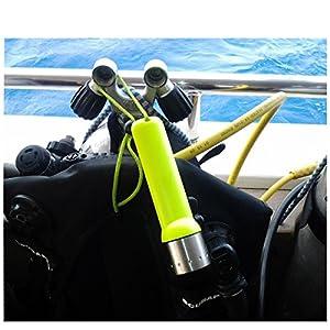 Mini 10cm 1200LM CREE Q5 bombillas de LED Handheld linterna de buceo portátil material plástico resistente al agua M647