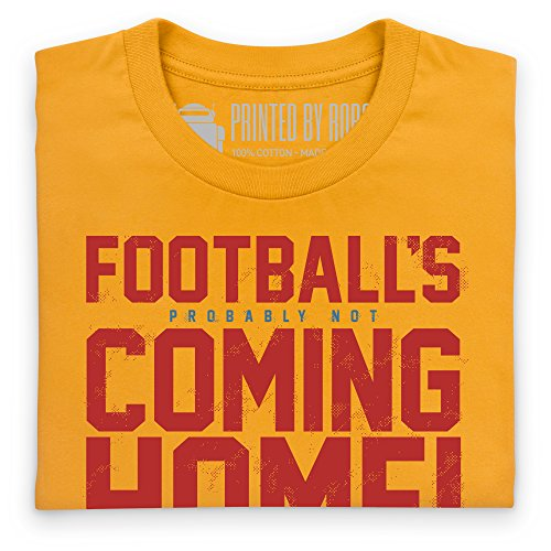 Football's Coming Home T-Shirt, Damen Gelb