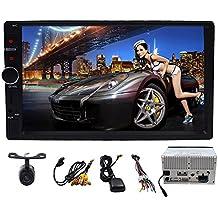 7inch Android 6.0Marshmallow Car Stereo 2DIN en Dash GPS Navigation Autoradio Receptor Bluetooth unidad principal apoyo teléfono Mirroring Cam-in OBD24G WiFi USB none-dvd coche reproductor