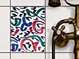 creatisto Fliesen-Folie Sticker Aufkleber selbstklebend | Fliesendekor Klebefolie Badezimmer renovieren Küche Bad Design | 15x20 cm Muster Ornament Spanish Tile 3-1 Stück