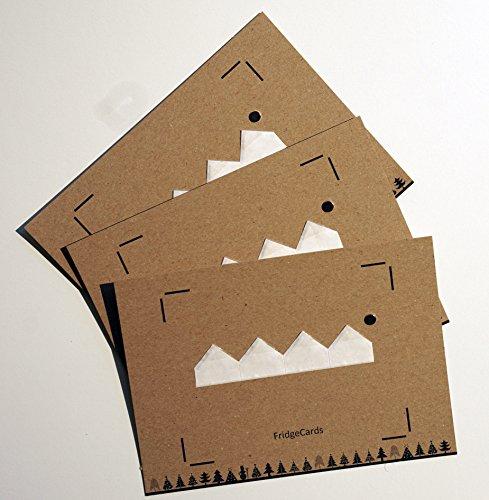 . Individuelle Weihnachtskarten zur Befestigung eines Fotos inkl. Kühlschrankmagnet für Empfänger zur Befestigung des Fotos. Perfekt für alle Instax Wide Filme. (Individuelle Foto-weihnachtskarten)