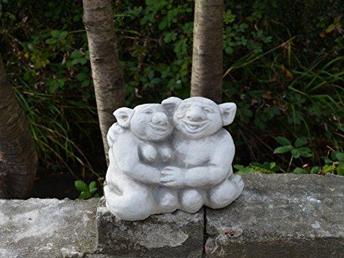 Lustiger Troll Opa und Oma aus Steinguss, frostfest - 3