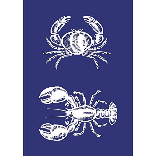 Rayher 45079000, Krebs und Lobster, DIN A5, 1 Schablone mit 1 Rakel im SB-Btl.