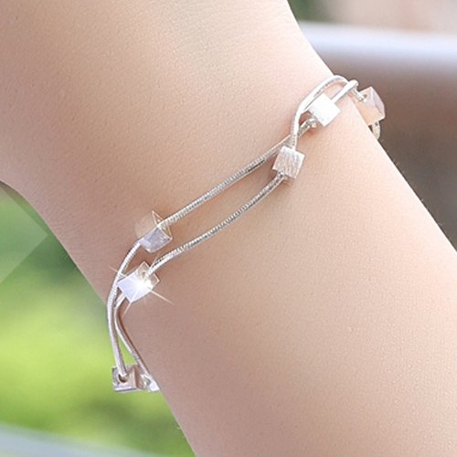 hoom-simple-moda-senoras-diamond-bracelet-in-sterling-silver