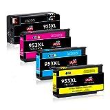 JIMIGO 953 XL 953XL Druckerpatronen Ersatz für HP 953 Patronen Kompatibel mit HP OfficeJet Pro 8710 8210 8715 8730 7720 7740 8725 8720 8218 8718 8740 8728 7730 8210, HP 8710 8210 8715 8730 7720