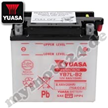 Batería Yuasa yb7l de B2, 12V/8Ah (tamaño: 137x 76x 135)