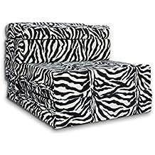 Colchón relajante pliable de multiusos cama sofá sillón (color: zebra)
