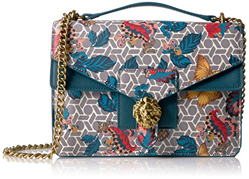 anne-klein-diana-medium-double-flap-chain-shoulder-bag-grey-multi-deep-azure