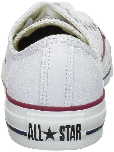 Converse Chuck Taylor All Star Core Lea Ox, Baskets mode mixte adulte Bianco (Blanc)